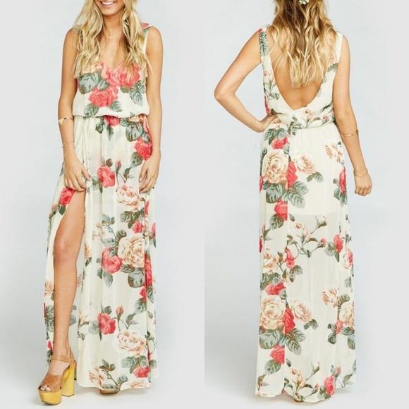 Show Me Your MuMu Dresses & Skirts - NWT Show Me Your MuMu Kendall Floral Maxi Dress M